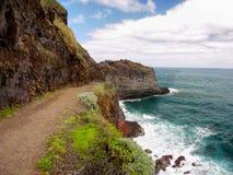 Il Madera, paesaggio scenico della costa sud, Portogallo Immagine Stock Libera da Diritti