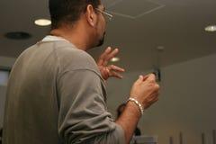 Il maestro conduce la ripetizione Fotografia Stock Libera da Diritti