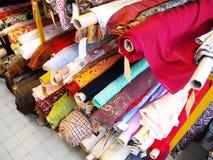 Il magazzino di tessuto Fotografia Stock
