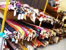 Il magazzino di tessuto Fotografie Stock