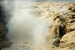 Il magnificence della cascata di hukou del fiume giallo Immagini Stock Libere da Diritti