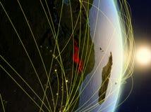 Il Malawi su pianeta Terra di reti fotografia stock libera da diritti