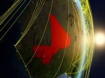 Il Mali su pianeta Terra di reti fotografie stock libere da diritti
