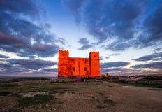 il, Malta - St Agatha ` s rewolucjonistki wierza przy błękitną godziną Zdjęcie Royalty Free