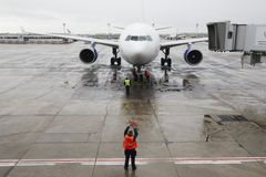 Il maltempo all'aeroporto Orly Fotografie Stock Libere da Diritti