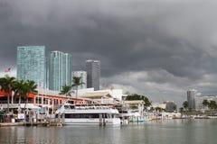 Il maltempo a Miami Florida Fotografia Stock Libera da Diritti