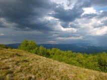 Il maltempo in montagne Fotografie Stock Libere da Diritti