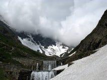 Il maltempo in montagne del thje Immagine Stock