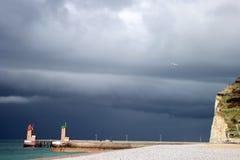 Il maltempo nel litorale atlantico Fotografie Stock Libere da Diritti
