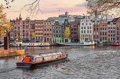 Il Manica a Amsterdam Paesi Bassi alloggia il fiume Amstel Fotografia Stock