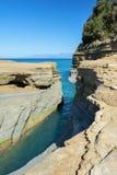 Il Manica di amore, tresca del ` del canale d in Sidari Isola di Corfù, Grecia fotografia stock
