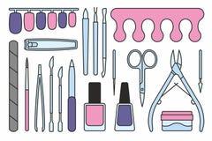 Il manicure foggia le icone Fotografie Stock Libere da Diritti