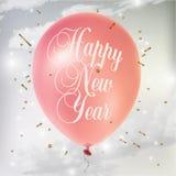 Il manifesto del nuovo anno Fotografia Stock