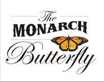 Il manifesto della farfalla di monarca Fotografia Stock Libera da Diritti