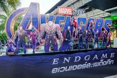 Il manifesto di finale di partita dei vendicatori ha visualizzato; The Avengers, ? un film americano del supereroe basato sul Mar immagine stock