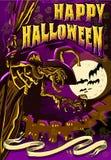 Il manifesto invita per il partito di Halloween Immagini Stock