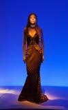 Il mannequin femminile si è vestito in bello retro vestito Immagine Stock Libera da Diritti