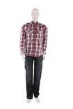 Il mannequin maschio si è vestito in camicia e jeans Fotografia Stock