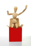 Il Mannequin si leva in piedi in casella Fotografia Stock Libera da Diritti