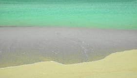 Il mar dei Caraibi incontra il dettaglio dell'estratto della spiaggia Fotografia Stock Libera da Diritti