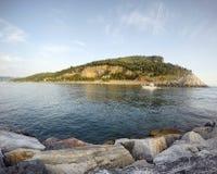 Il mar Ligure Fotografie Stock Libere da Diritti