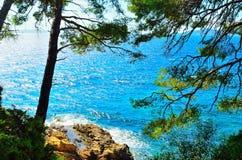 Il mar Mediterraneo in Le Lavandou, Francia Fotografia Stock Libera da Diritti