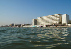 Il Mar Nero e la località di soggiorno di Mamaia Fotografia Stock
