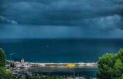 Il Mar Nero, molo, Jalta, funicolare Immagine Stock