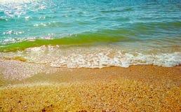 Il Mar Nero un giorno soleggiato tempestoso fotografie stock libere da diritti
