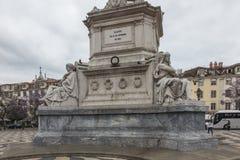Il marchese della rotonda del quadrato di Pombal nella città di Lisbona, fotografia stock