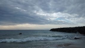 Il mare australiano del sud invia la spuma Fotografia Stock Libera da Diritti