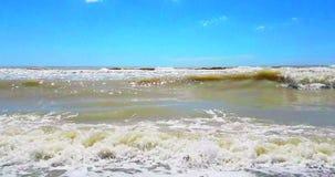Il mare caraibico tropicale della spiaggia con la sabbia dell'oro, festa, si rilassa e stock footage