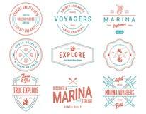 Il mare colorato Badges il volume 1 per qualsiasi uso Fotografia Stock
