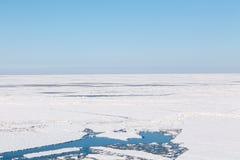 Il mare congelato fotografie stock