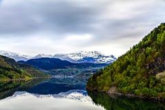 Il Mare del Nord ed il fiordo di estate, Norvegia Fotografia Stock