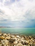 Il mare del paesaggio della Galilea Fotografia Stock Libera da Diritti