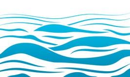 Il mare dell'acqua blu ondeggia il fondo astratto di vettore Fondo della curva dell'onda di acqua, linea illustrazione dell'inseg fotografie stock