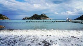 Il mare dell'estate ondeggia il tacchino di marmaris Fotografia Stock