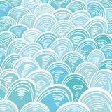 Il mare di Absract ondeggia l'ornamento del Greco di Minoan illustrazione vettoriale