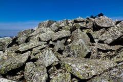 Il mare di pietra sull'alta montagna Fotografie Stock Libere da Diritti