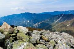Il mare di pietra sull'alta montagna Fotografie Stock
