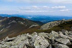 Il mare di pietra sull'alta montagna Fotografia Stock