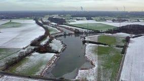 Il mare di Schwafheimer è un'area di conservazione della natura in Moers in una precedente grondaia dell'inondazione del fiume il archivi video