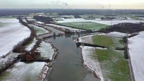 Il mare di Schwafheimer è un'area di conservazione della natura in Moers in una precedente grondaia dell'inondazione del fiume il stock footage