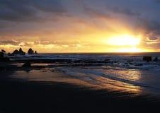 Il mare di Tasman ad ovest della Nuova Zelanda Fotografia Stock Libera da Diritti