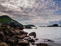 Il mare e l'alba Immagini Stock