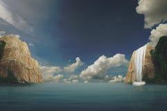 Il mare ed il cielo del landscapse nel natuer Fotografia Stock Libera da Diritti