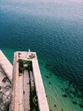 Il mare ed il gabbiano fotografia stock libera da diritti