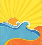 Il mare fluttua il manifesto. Vettore Fotografie Stock Libere da Diritti