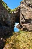 Il mare frana Cudillero, Asturie, Spagna Fotografia Stock Libera da Diritti